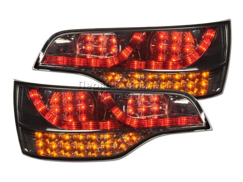 Audi q7, оптика c 4 би-ксеноновых линзы +drl